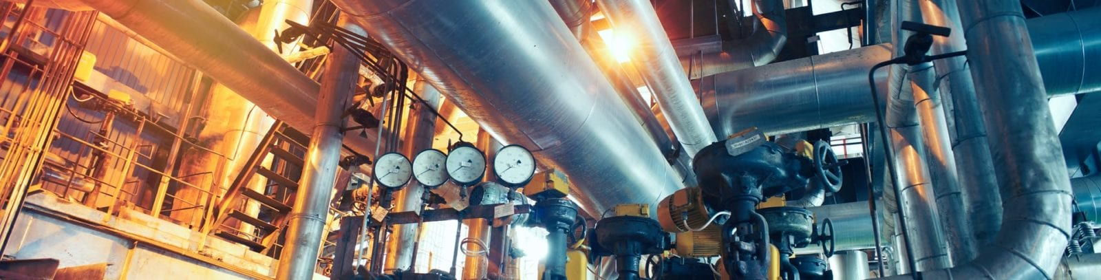 Interior of a Mechanical Factory Area Stock Photo
