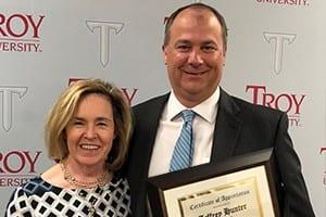 Attorney Jeff Hunter - Greek Honor Society Award