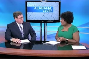 Steve Floyd and Host Tonya Terry on set of Alabama Live