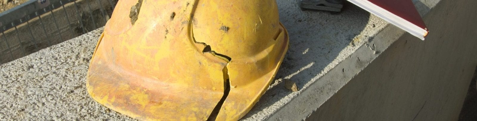 Broken Hard Hat Stock Photo