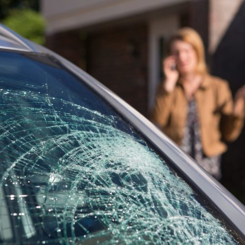 woman calling a car accident lawyer after an accident in Montgomery, AL