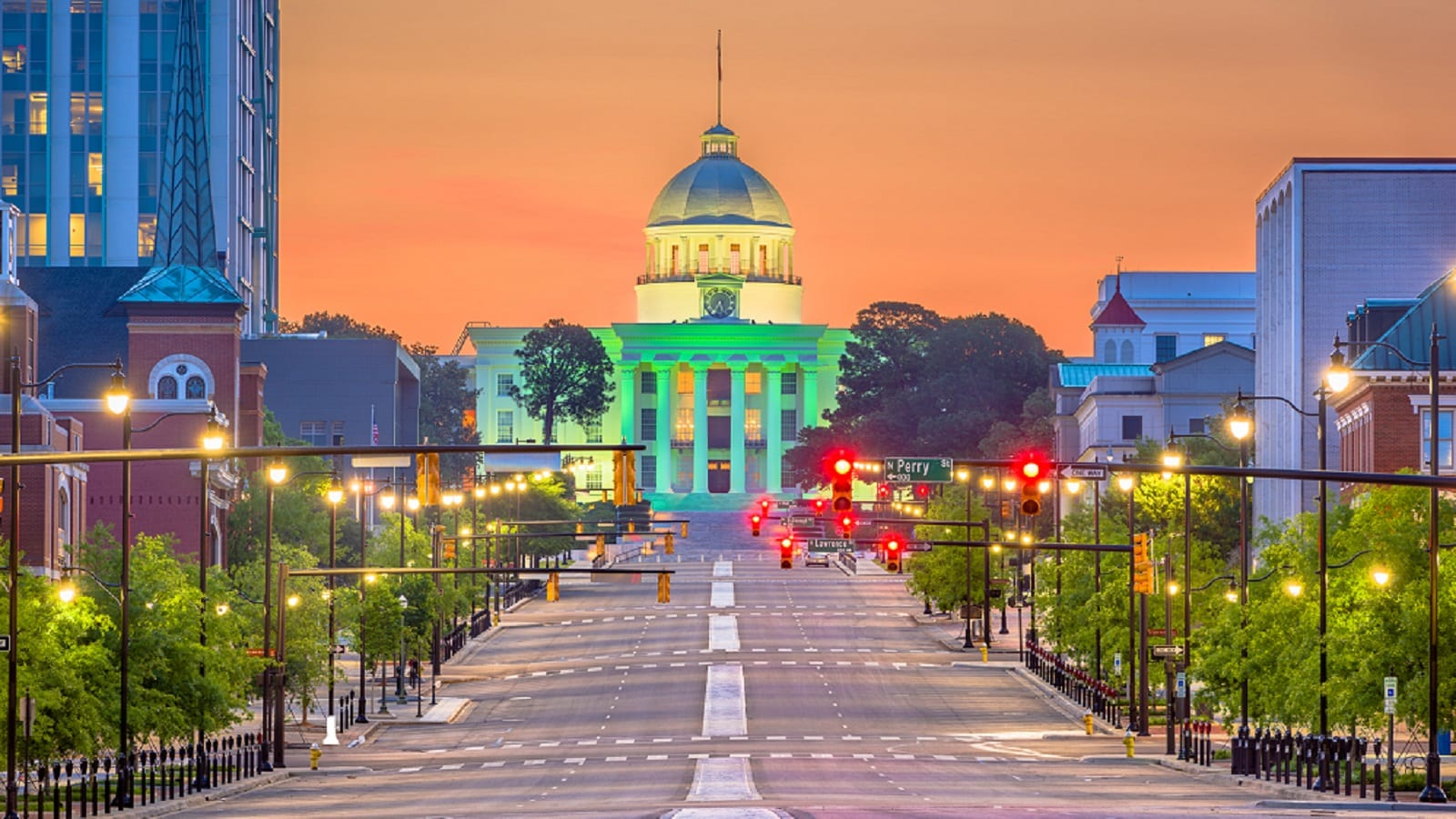 Alabama State Capitol In Montgomery, Alabama Stock Photo