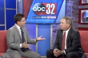 Attorney Mike White on news segment speaking about teen driving safety