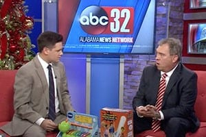 Attorney Mike White speaks about holiday toy safety on the news