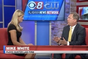 Mike White discussing boating safety on the news