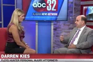 Attorney Darren Kies appears on local news segment about drunk driving in Alabama