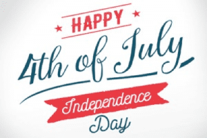 Happy Fourth of July Banner