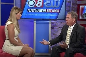 Attorney Mike White on the news speaking about spinal cord injuries