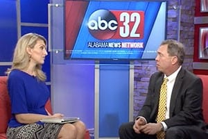 Mike White speaks to news host about tractor trailer driving safety