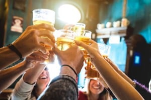 Group of Friends Making A Toast Stock Photo